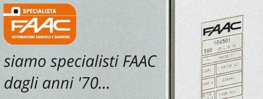 siamo specialisti FAAC dagli anni 70